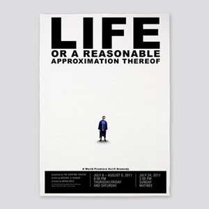 Life or A Reasonable Approximation  5'x7'Area Rug