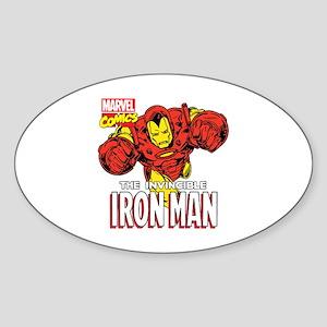 The Invincible Iron Man 2 Sticker (Oval)
