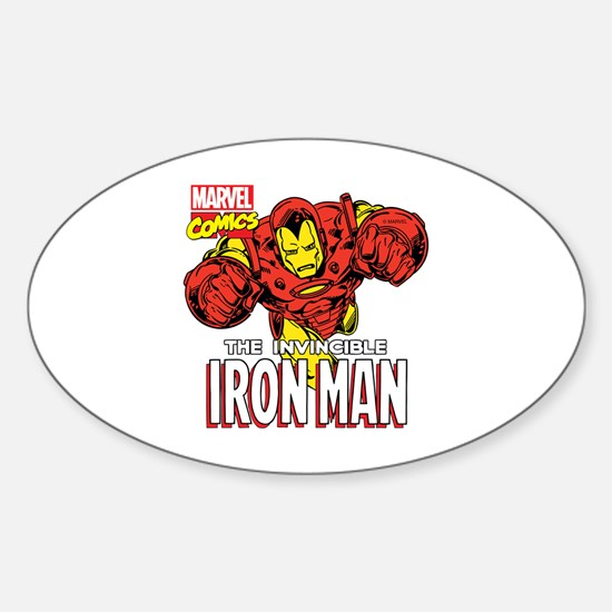 The Invincible Iron Man 2 Sticker (Oval)