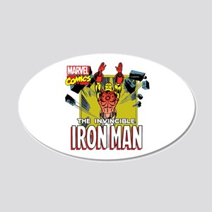 The Invincible Iron Man 3 20x12 Oval Wall Decal