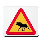Elk/Moose warning Mousepad