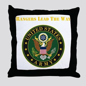 Army Rangers Lead The Way Throw Pillow