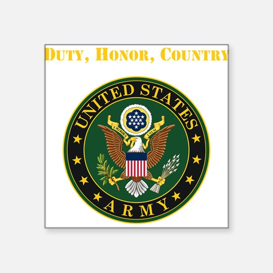 Duty Honor Country Army Sticker