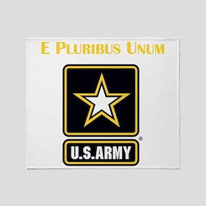 E Pluribus Unum Army Throw Blanket