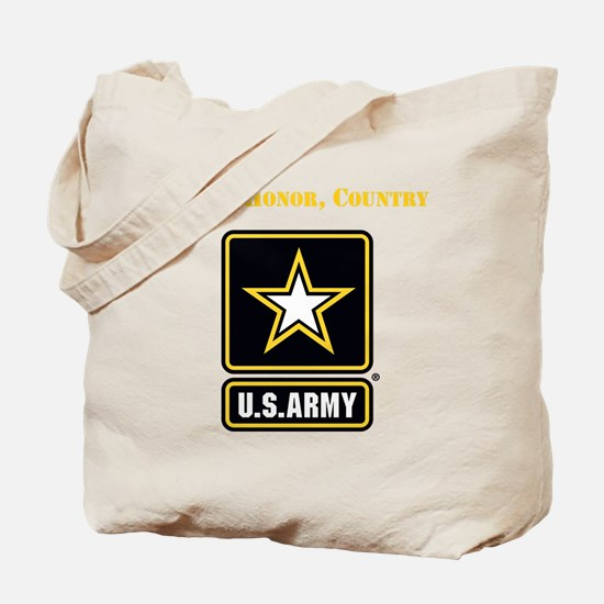 Duty Honor Country Army Tote Bag