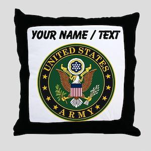 Custom U.S. Army Symbol Throw Pillow