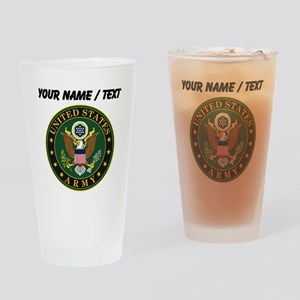 Custom U.S. Army Symbol Drinking Glass