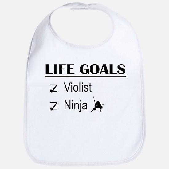 Violist Ninja Life Goals Bib