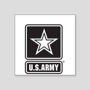 Custom U.S. Army Black And White Star Logo Sticker