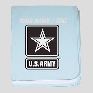 Custom U.S. Army Black And White Star Logo baby bl