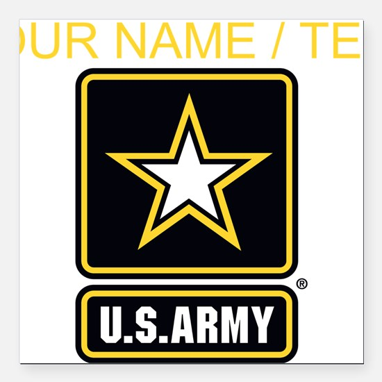Custom U.S. Army Gold Star Logo Square Car Magnet