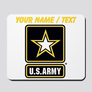 Custom U.S. Army Gold Star Logo Mousepad
