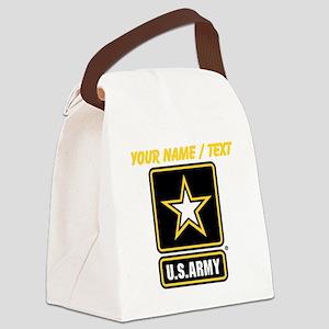 Custom U.S. Army Gold Star Logo Canvas Lunch Bag