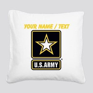 Custom U.S. Army Gold Star Logo Square Canvas Pill