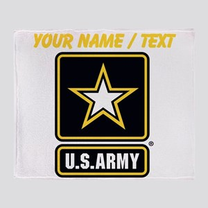 Custom U.S. Army Gold Star Logo Throw Blanket