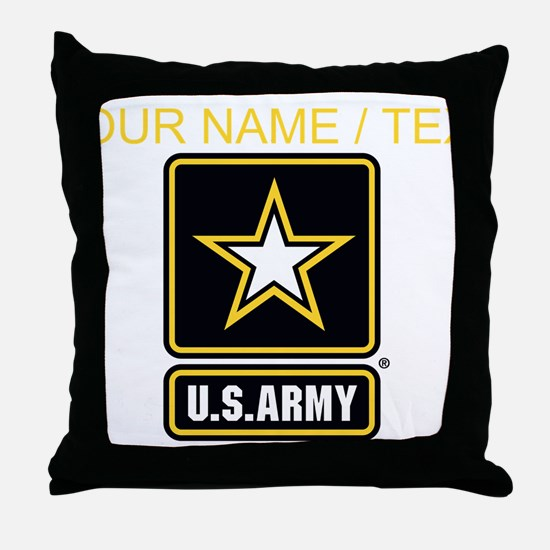 Custom U.S. Army Gold Star Logo Throw Pillow