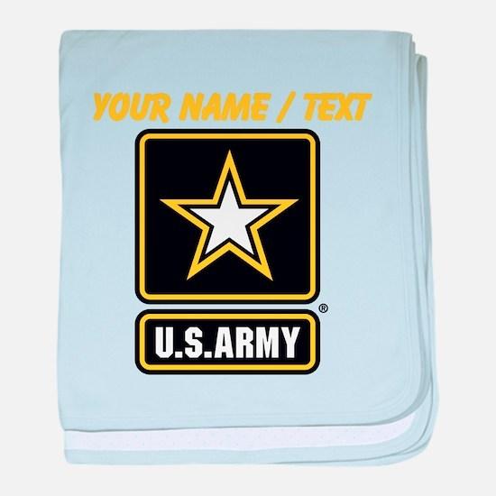 Custom U.S. Army Gold Star Logo baby blanket