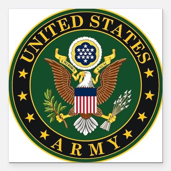U.S. Army Symbol Square Car Magnet 3" x 3"