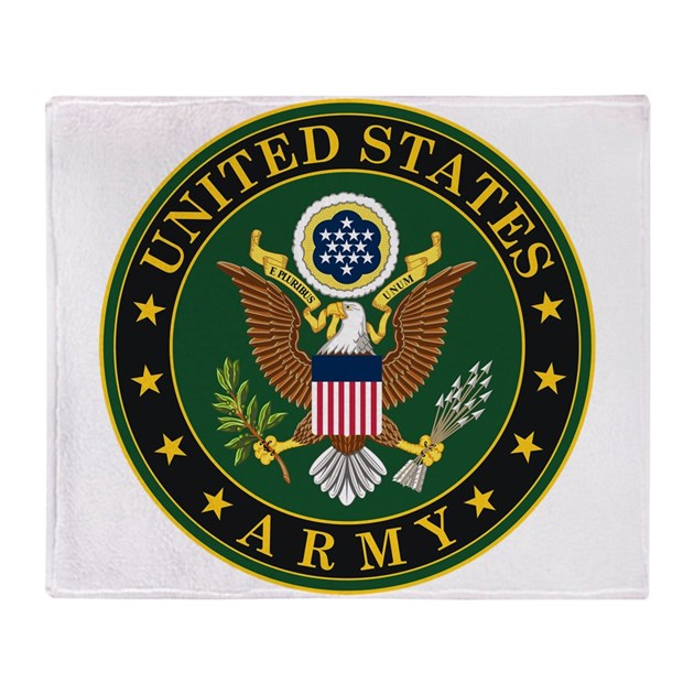Us Army Symbol Throw Blanket By Usarmygifts
