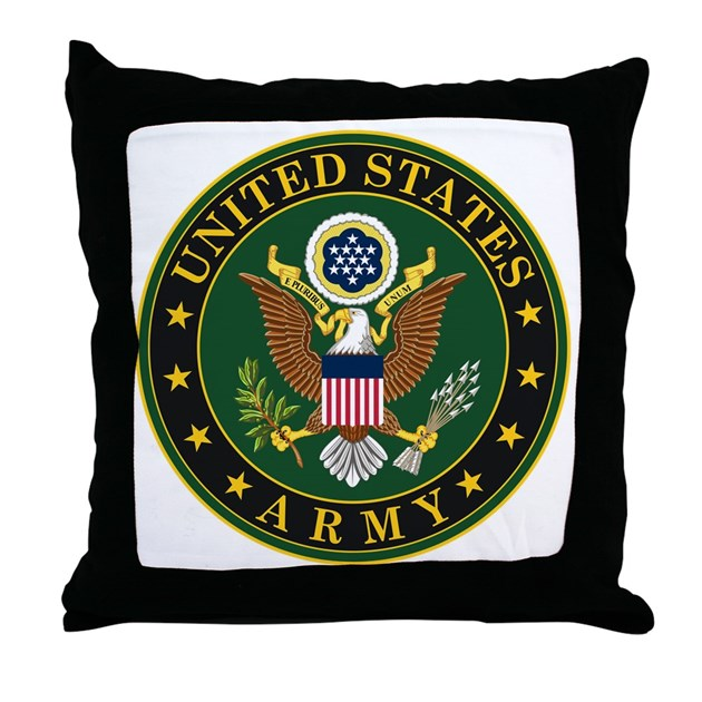 Us Army Symbol Throw Pillow By Usarmygifts