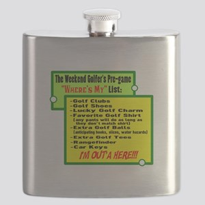 Golfers Wheres My List Flask