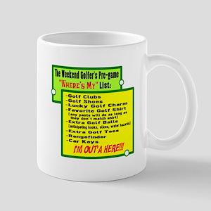 Golfers Wheres My List Mugs