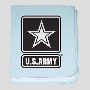 U.S. Army Black And White Star Logo baby blanket