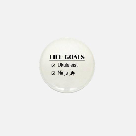 Ukuleleist Ninja Life Goals Mini Button