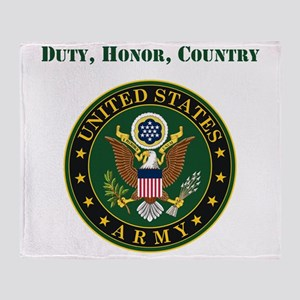 Duty Honor Country Army Throw Blanket