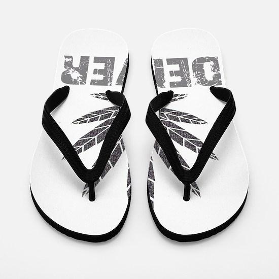 Denver Dark Leaf Flip Flops