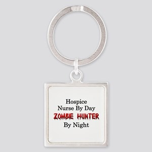 Hospice Nurse/Zombie Hunter Square Keychain