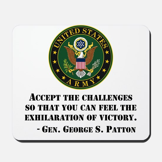 The Exhilaration Of Victory Quote Mousepad