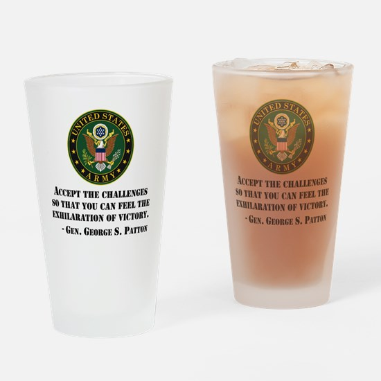 The Exhilaration Of Victory Quote Drinking Glass