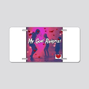 reigns really pink Aluminum License Plate