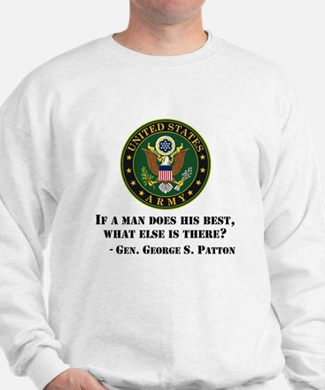 If A Man Does His Best Quote Sweatshirt