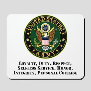 U.S. Army Values Mousepad