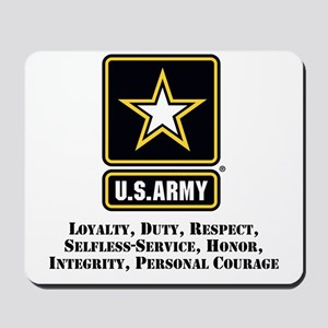 U.S. Army Values Mousepad