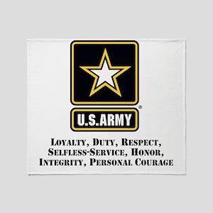 U.S. Army Values Throw Blanket