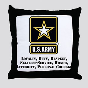 U.S. Army Values Throw Pillow