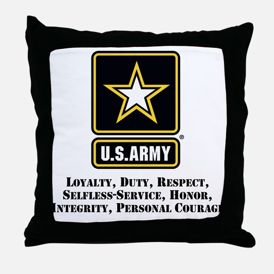 U.S. Army Values Throw Pillow