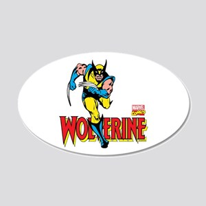 Wolverine Running 20x12 Oval Wall Decal