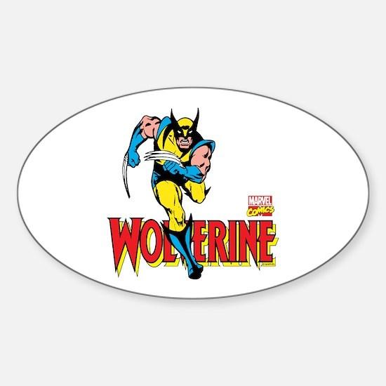Wolverine Running Sticker (Oval)