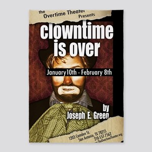 Clowntime is Over 5'x7'Area Rug