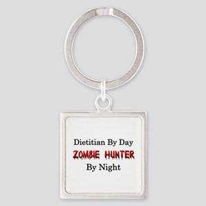 Dietitian/Zombie Hunter Square Keychain