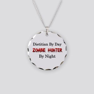 Dietitian/Zombie Hunter Necklace Circle Charm