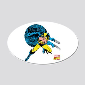 Wolverine Circle 20x12 Oval Wall Decal