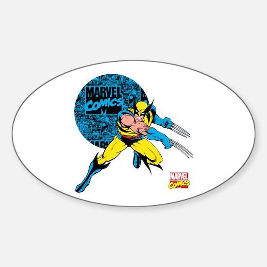 Wolverine Circle Sticker (Oval)