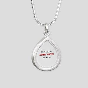 CNA/Zombie Hunter Silver Teardrop Necklace