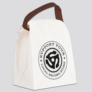 RecordStoreReduxInvert Canvas Lunch Bag