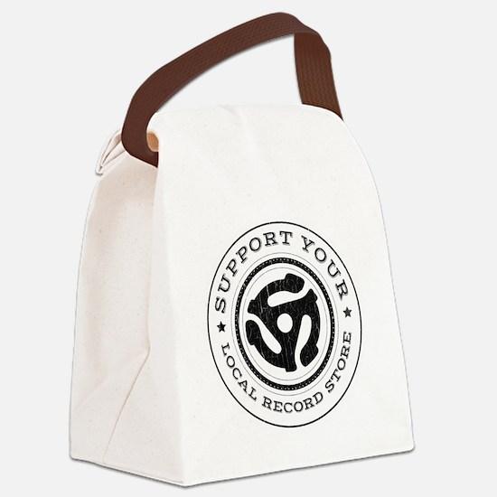 RecordStoreReduxInvert Canvas Lunch Bag
